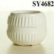 Wholesale lighweight small ceramic cactus plant pots