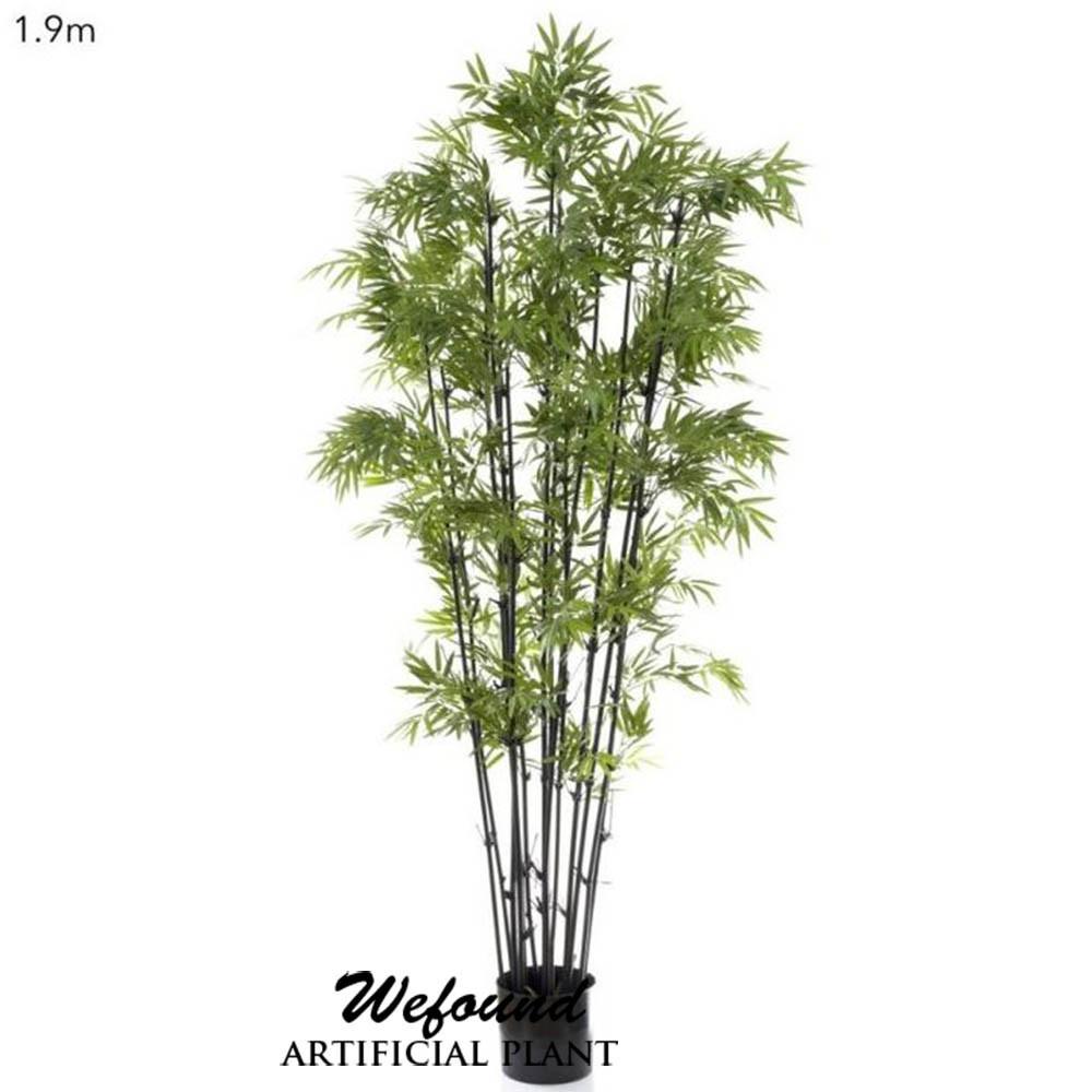 Wf07302 di bamb giapponese con stelo nero artificiale for Pianta bambu prezzo