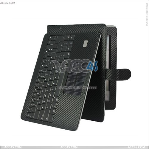 Innovative Wireless Bluetooth Keyboard with Solar panel leather Case for iPad 2 P-IPAD2CASE100