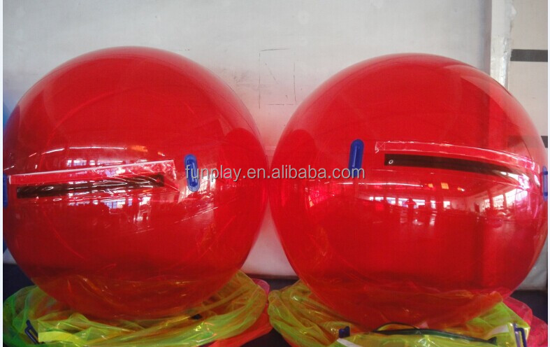 HI red human size pool floating inflatable water walking ball price