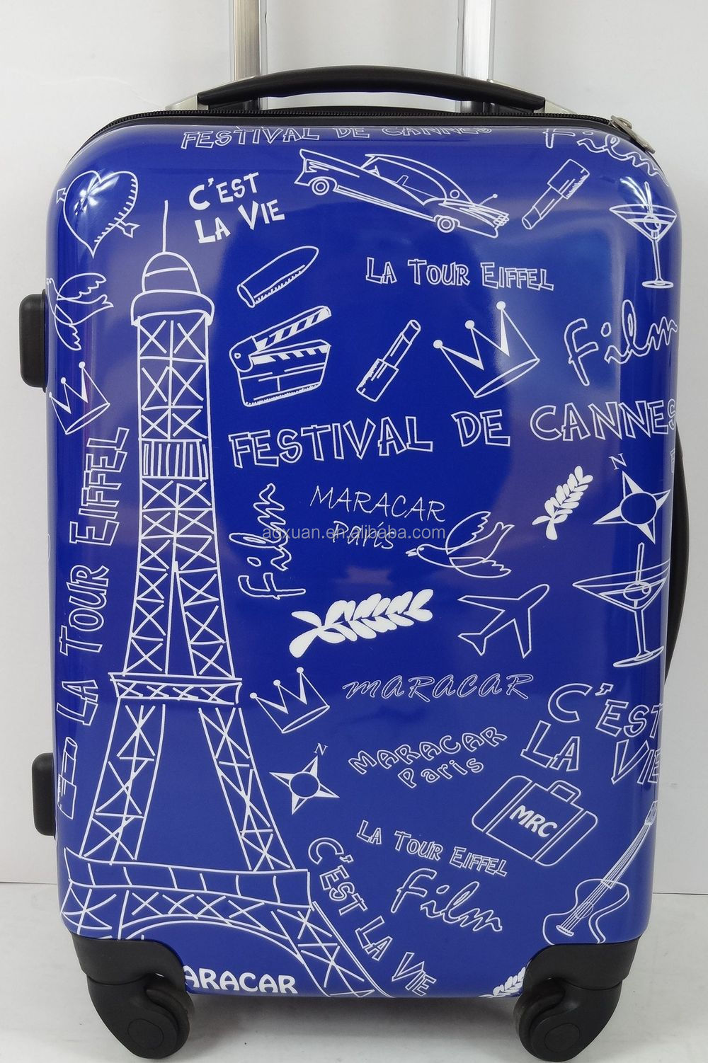 Newest personalized print PC/ABS hard shell eiffel tower suitcase sets