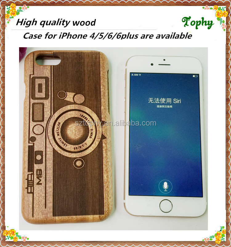 Wood carving machine made custom for wood iphone 6 plus case, for iphone 6 plus wooden case