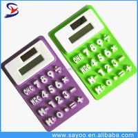 Promotional silicone rubber calculator