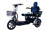 Double seat 48v electric passenger tricycle