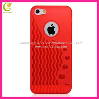 2012 new fashion colorful jelly soft s shape tpu case for iphone 5