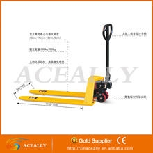 China CE 2/2.5/3/5 ton manual hydraulic hand pallet truck scissor pallet jack dimensions