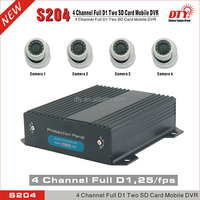Full d1 h.264 real time dvr security system,dual sd card protable dvr recorder,CE FCC RoHS car black box ahd mobile dvr,S204G