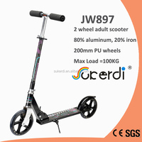 Aluminum foot kick 2 big wheels scooter adult foldable new scooter price