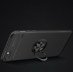 2018 New Creative 360 Degree Rotation Ring Holder soft Mobile Case Covers For iphone 7,support for car magnet bracket