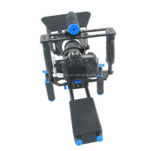 Best professional shoulder handheld camera cage mount rig kig+matte box+follow focus+camera cage for canon mark video