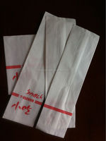 80gsm white kraft bread paper bag, PE coated packaging paper, hot dog paper bag