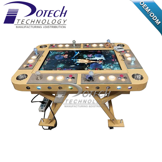 Most Popular American 6 Players Foldable Fish Shooting Fishing Game Machine