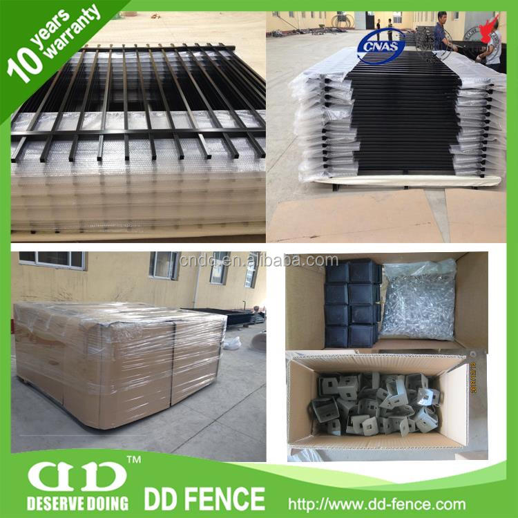 ISO14001 certified custom metal gates /cost of wrought iron fence from China