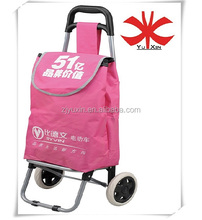 Foldable trolley bag with 600D polyester / Foldable shopping trolley bag