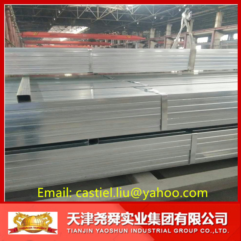 Cold rolled Pre Galvanized Welded Square / Rectangular Steel Pipe/Tube/Hollow Section