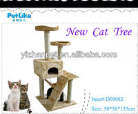 High Quality Cat Tree With Plush And Sisal Materials