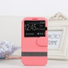 Skin flip cover case with strap dot view holder for samsung galaxy s4