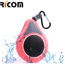 Super Mini Outdoor Portable Hook Powered Speaker ,High Quality Waterproof Bluetooth Speaker With Suction Cup