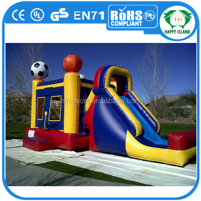 HI EN14960 dolphin commercial inflatable bouncer slide