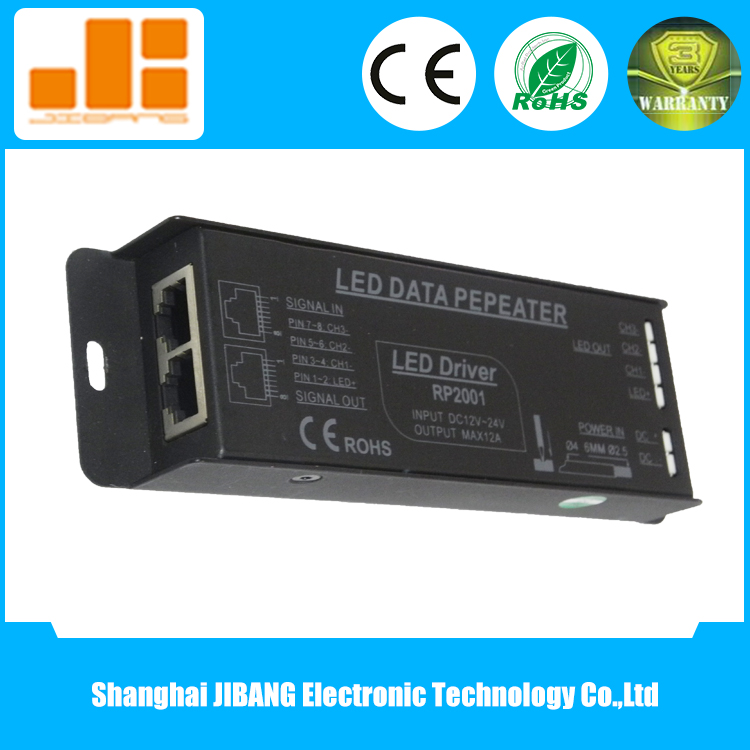 3 Channel LED Power Amplifier for RGB LED Strip