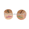 High quality wood big dice for promotion items