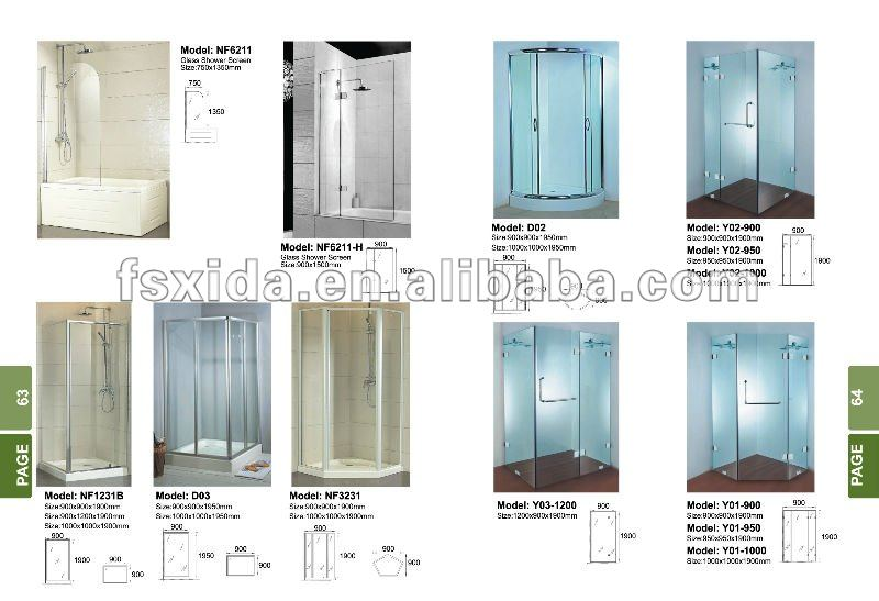 Toughen glass Shower screen for bathroom