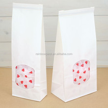 Empty Tea / Coffee Packaging Customized karft Paper Bags frosted Tin Tie Bag