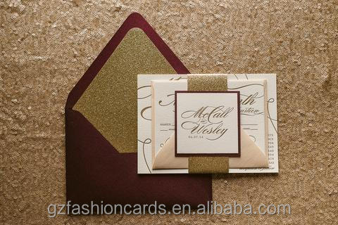 Marsala & Glitter Gold Bridal Shower Invitations