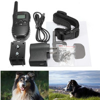Newest Hot Sale 300M Rechargeable And Waterproof Shock Vibra Remote Control LCD Electric Pet Dog Training Collar