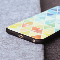 citycase colorful triangle pattern silicone phone case for iPhone6 6s