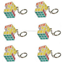 Keychain magic cube puzzle White