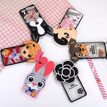 Hot Selling Acrylic TPU and Silicone Transparent 3D Cartoon Bumper Back Case Cover for vivo x5 pro