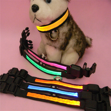 LED Flashing Night Safety Collar For Pet Dogs Adjustable in S/M/L/XL pet leash TB001