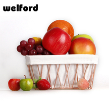 Products wholesale eco-friendly wired mesh fruit metal basket with copper