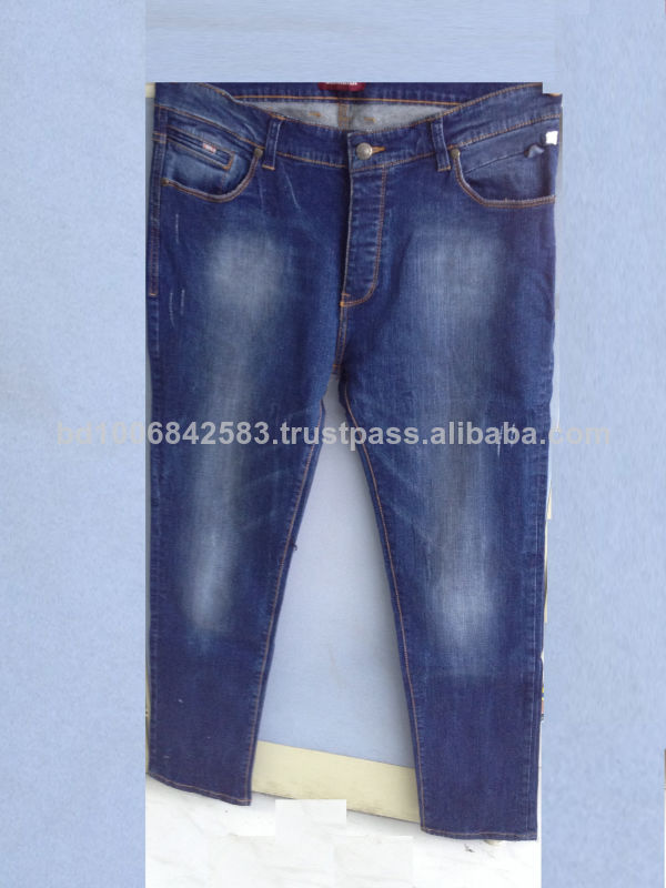 Men's High Quality Denim Jeans, Raw Denim From Bangladesh