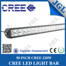 52 inch 220w cree 10w led lightbar 4x4 one row marine cheap led light bar