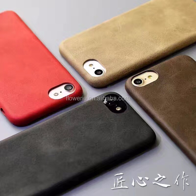 Wholesale Case for Apple iPhone 7 genuine leather phone case custom flip cover for iphone