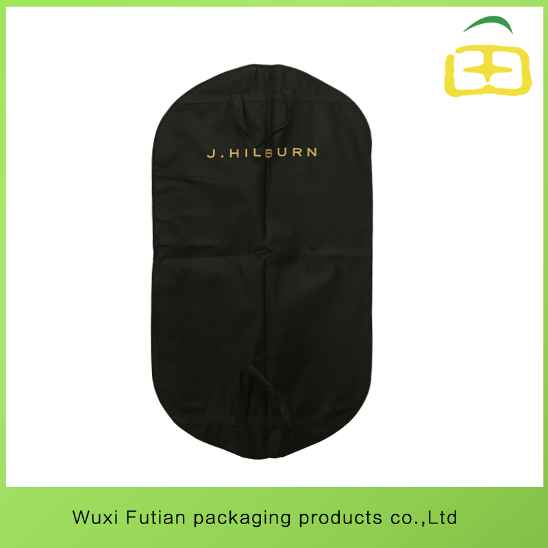 factory price non-woven suit carrier with high quality zipper