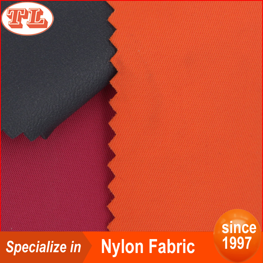 230T nylon fabric twill with pvc foam coated for bag tent awning parachute lining