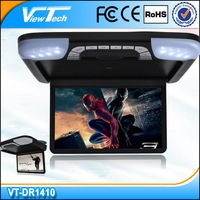14 inch roof mounted car dvd player with Game/USB/SD