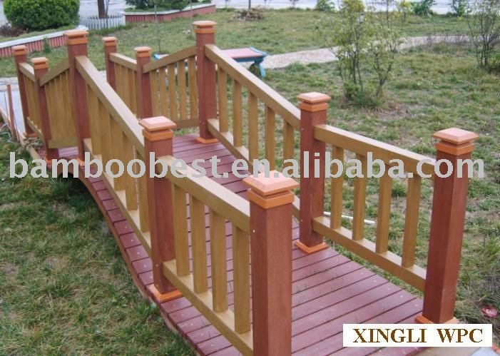 red color grade wpc garden bench and decking