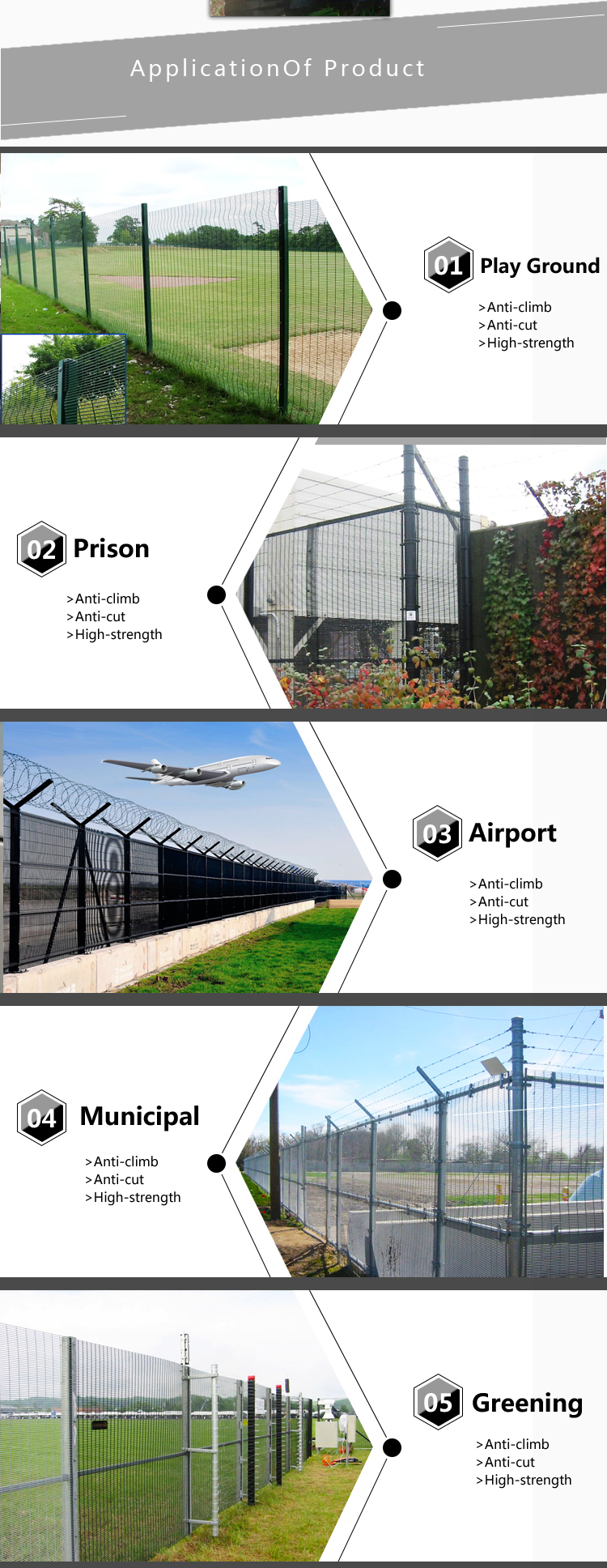 358 metal security mesh fence