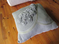50CZ98 100%Acrylic 100%Cotton flower decoration knit throw and pillow set, 2013 2014 New