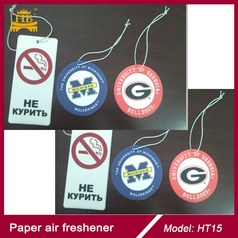 Stop Smoking paper type screen printing paper air freshener