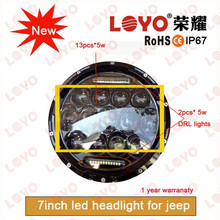 "car accessories 75w led work light,car light 75w led headlight for Jeep wrangler,Round 7"" led driving lights for Jeep"