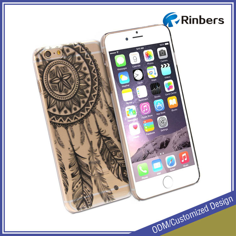 New Custom Clear Ultra Slim Plastic Hard Case Cover Floral Paisley Flower Back for iPhone 4 4S 5C 5 5S 6 6 Plus 6S 6S Plus