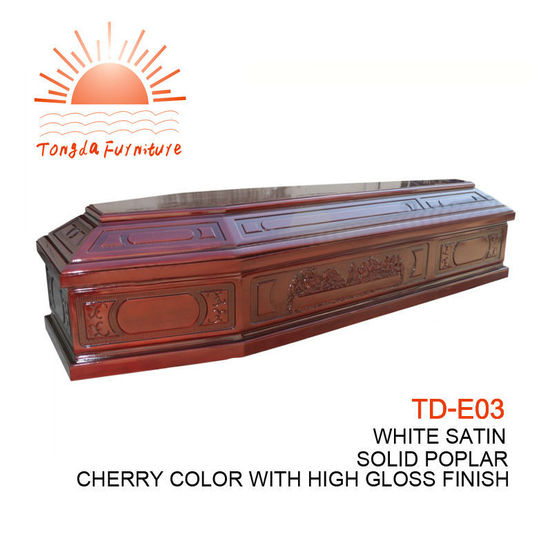 TD--E03 BABYCONE US Style Cheap Wood Veneer Infant Casket For Loved Baby