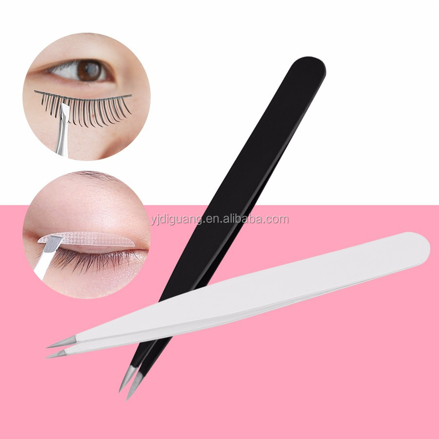4 Inch Surgical Stainless Steel Precision Facial Hair Tweezers Pointed Eyebrow Tweezers For Ingrown Hair