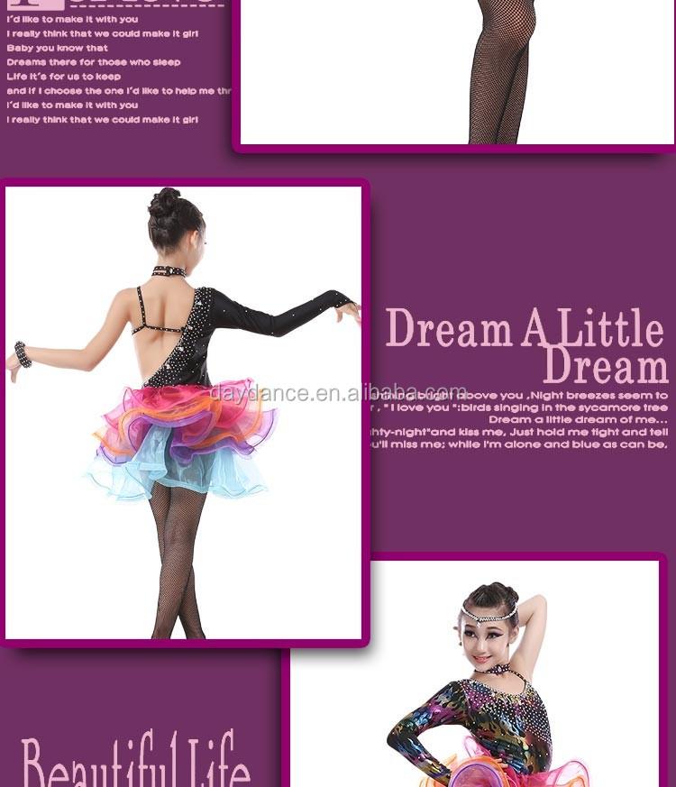 Tango vestidos Puffy falda colorida-Vestuario para Actuaciones ...