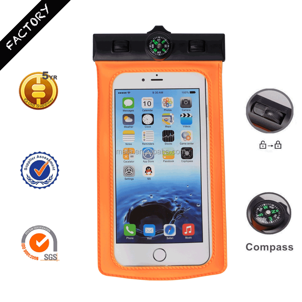New Arrival Waterproof Cell Phone Case for Moto x for iPhone for Swimming with IPX8 Certificated